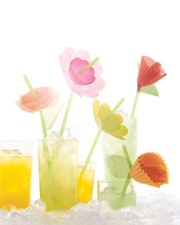 Lemonade with a fun twist! Use cupcake liners at various sizes and colors to create a fun signature drink!