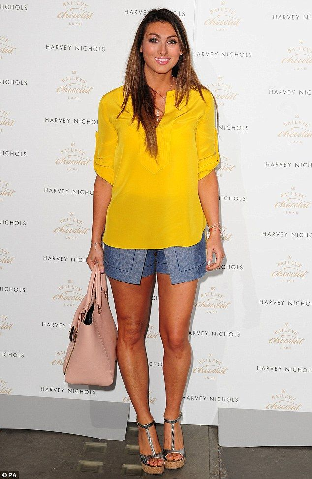 Here she comes: Lusia Zissman attends the Baileys Feaster Egg Hunt at Harvey Nichols in Knightsbridge on Tuesday evening
