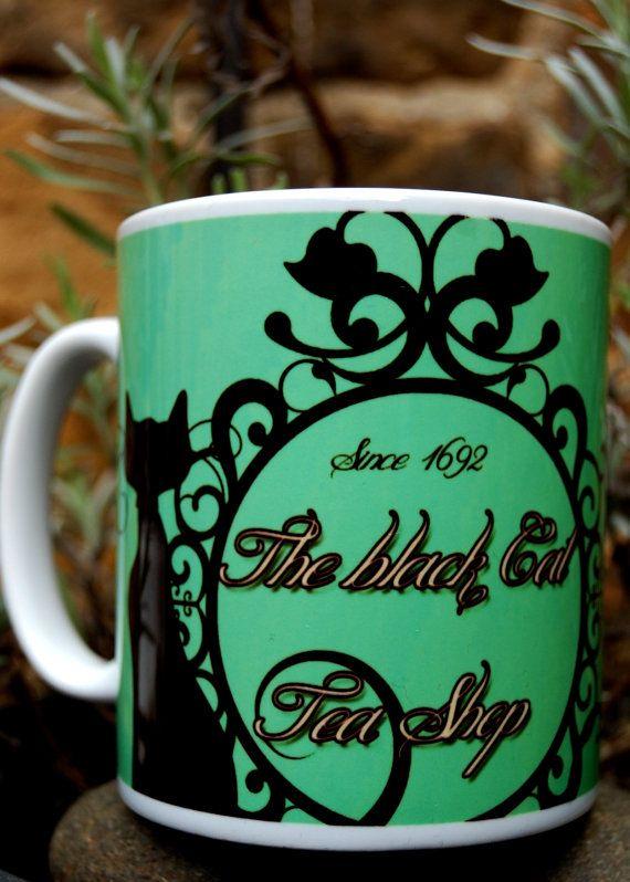 The Black Cat Tea Shop  by LunaLevitas on Etsy