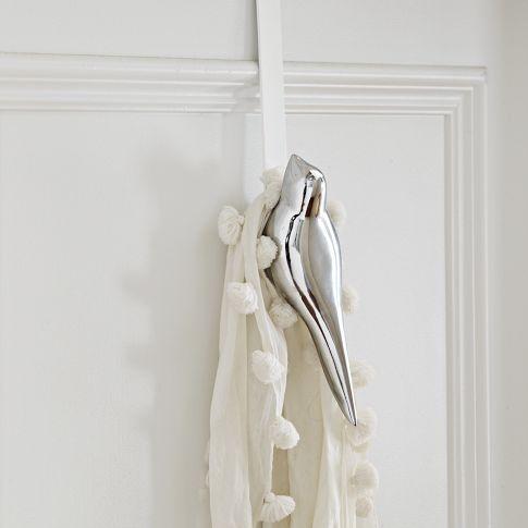 #decor #bath #hook [Scandinavian Bird Hook - Over-the-Door | west elm]