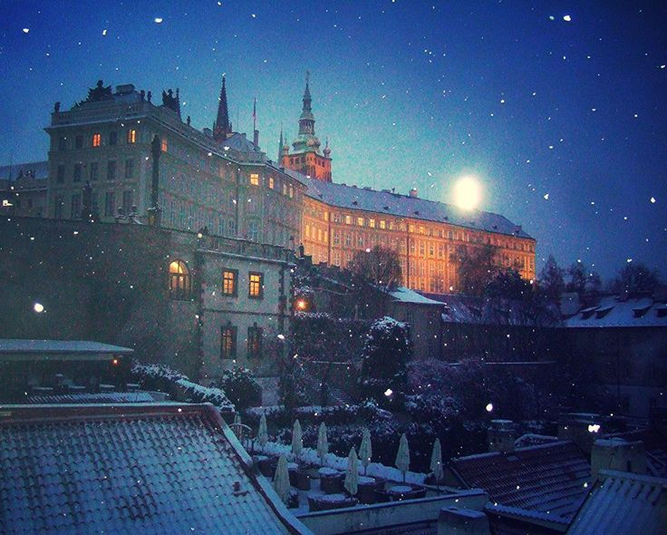 Prague in snow - 1