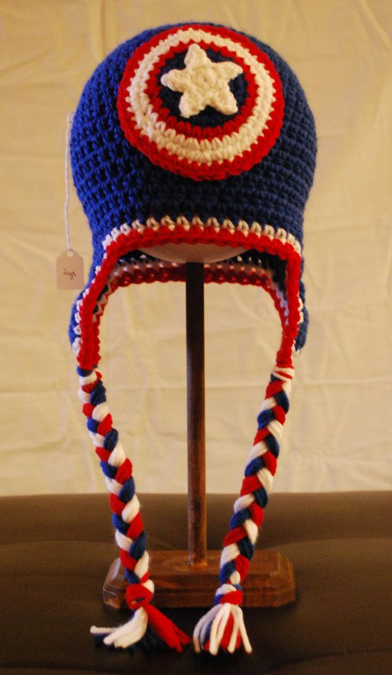 Captain America Hat by AuntMaggies on Etsy
