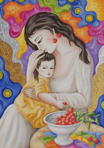 Maternita delle ciliege (Motherhood Of Cherries)
