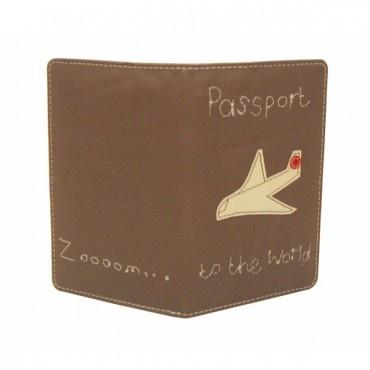 Plane Passport Holder by Poppy Treffry
