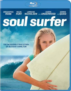 """Soul Surfer"" The Bethany Hamilton Story - Christian Movie/Film on Blu-ray with AnnaSophia Robb, Carrie Underwood and Kevin Sorbo. Check out Christian Film Database for more info - http://www.christianfilmdatabase.com/review/soul-surfer/"