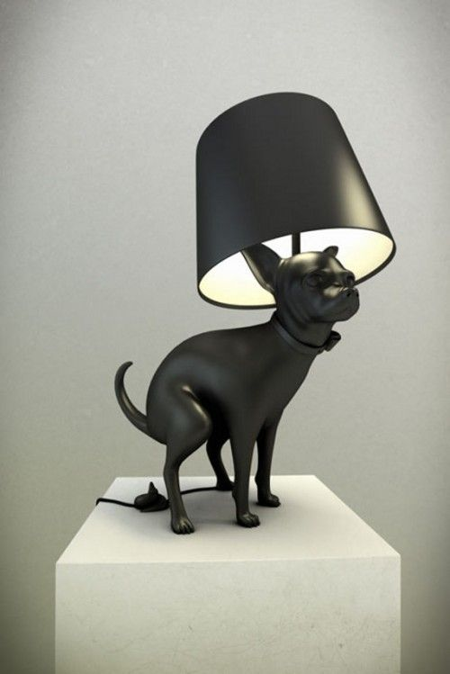 These Are Dog Pooping Lamps.  Yes, That's Right