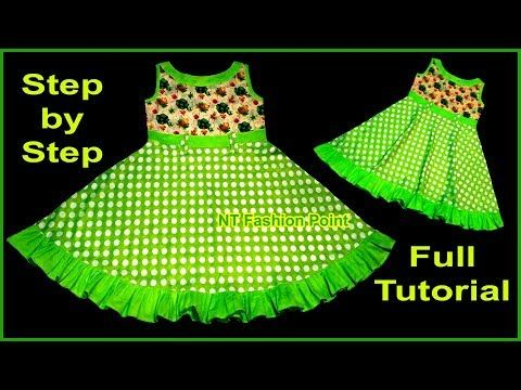 b3f35f870 2019 New Idea Cotton Summer Baby Frock Design Cutting and Stitching Full  Tutorial - YouTube