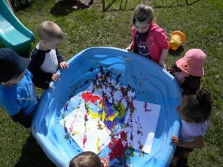 pool painting... Kids party activity?!