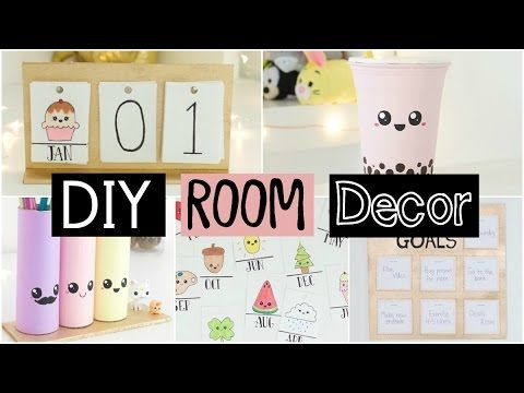DIY Room Decor & Organization For 2017 - EASY & INEXPENSIVE Ideas! - YouTube