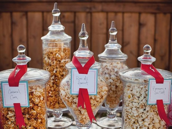 Amazing: Desserts Buffet, Paper Bags, Summer Parties, Candy Bar, Have Fun, Parties Ideas, Popcorn Bar, Apothecaries Jars, Popcorn Jars