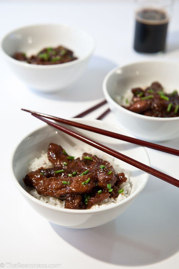 Stout Mongolian Beef, twenty minutes and so good.