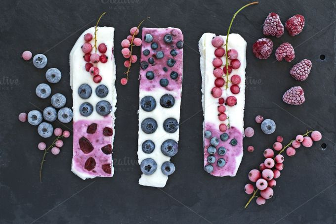 Frozen bars with fruits. Close up. by kawizen  on @creativemarket #dessert #healthy #frozen#fresh #summer #beautiful #closeup #natural #white #bar #bars #fruits #berry #fruit #tasty #berries#sweet #blueberries #currant #delicious #organic #raspberries #frosty #redcurrant#yoghurt #icy #yogurt #refreshing #nutrition#fruity #season #seasonal #tabletop #tabletopview #topview