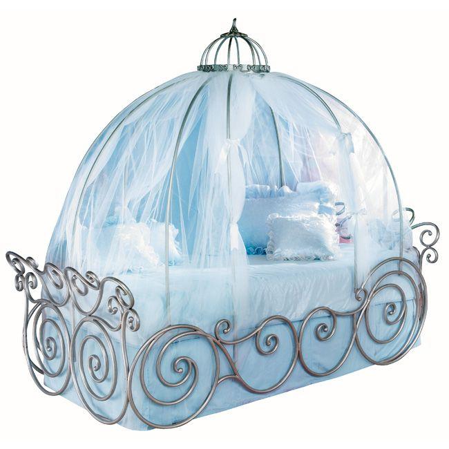 Disney Princess White Twin Carriage Bed | Cinderella ...