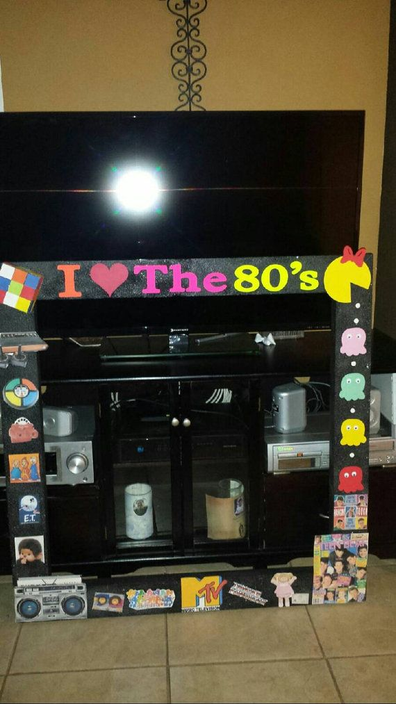 Check out this item in my Etsy shop https://www.etsy.com/listing/235222563/i-love-the-80s-photo-booth-frame