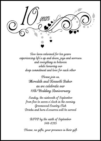 25th Wedding Anniversary Invitations Wording Classic20Black - best of corporate anniversary invitation quotes