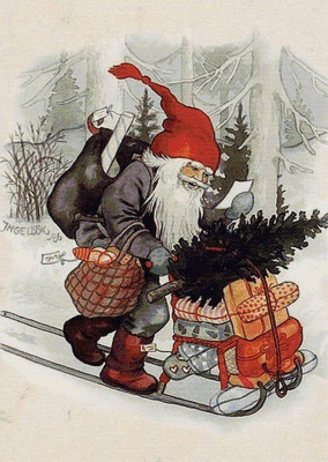 Открытка с рождеством на финском