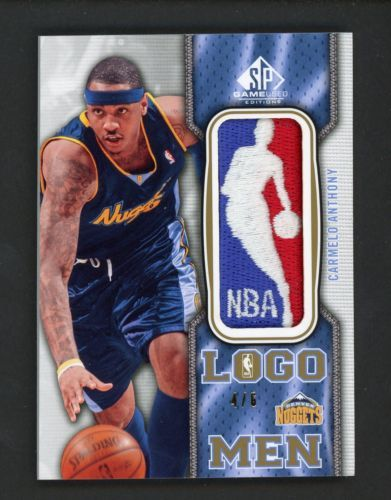 2009-10 SP Game Used Logo Men Carmelo Anthony Nuggets NBA Logoman Patch 4/6
