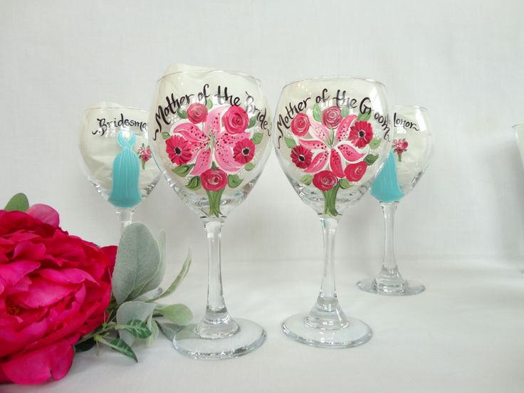 Mother Of The Groom Gift: 17 Best Ideas About Painted Champagne Flutes On Pinterest