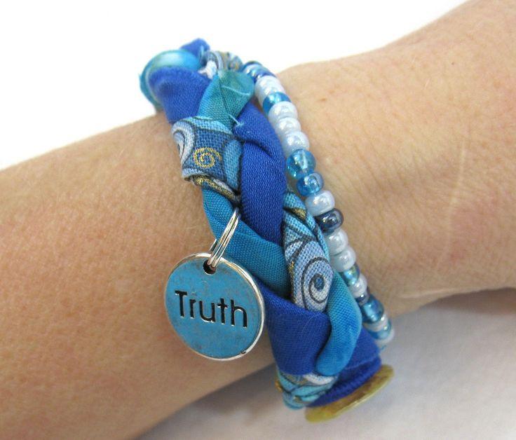 Fabric Bracelet with a Charm