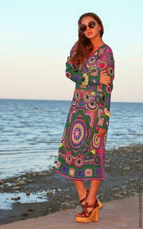 """Купить Платье-хиппи """"Богемия"""". - платье-хиппи, богемский стиль, хиппи, бохо, 1970-е"""