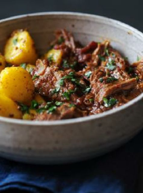 Low FODMAP and Gluten Free Recipe - Lamb madras with bombay potatoes http://www.ibssano.com/low_fodmap_recipe_lamb_madras_bombay_potatoes.html