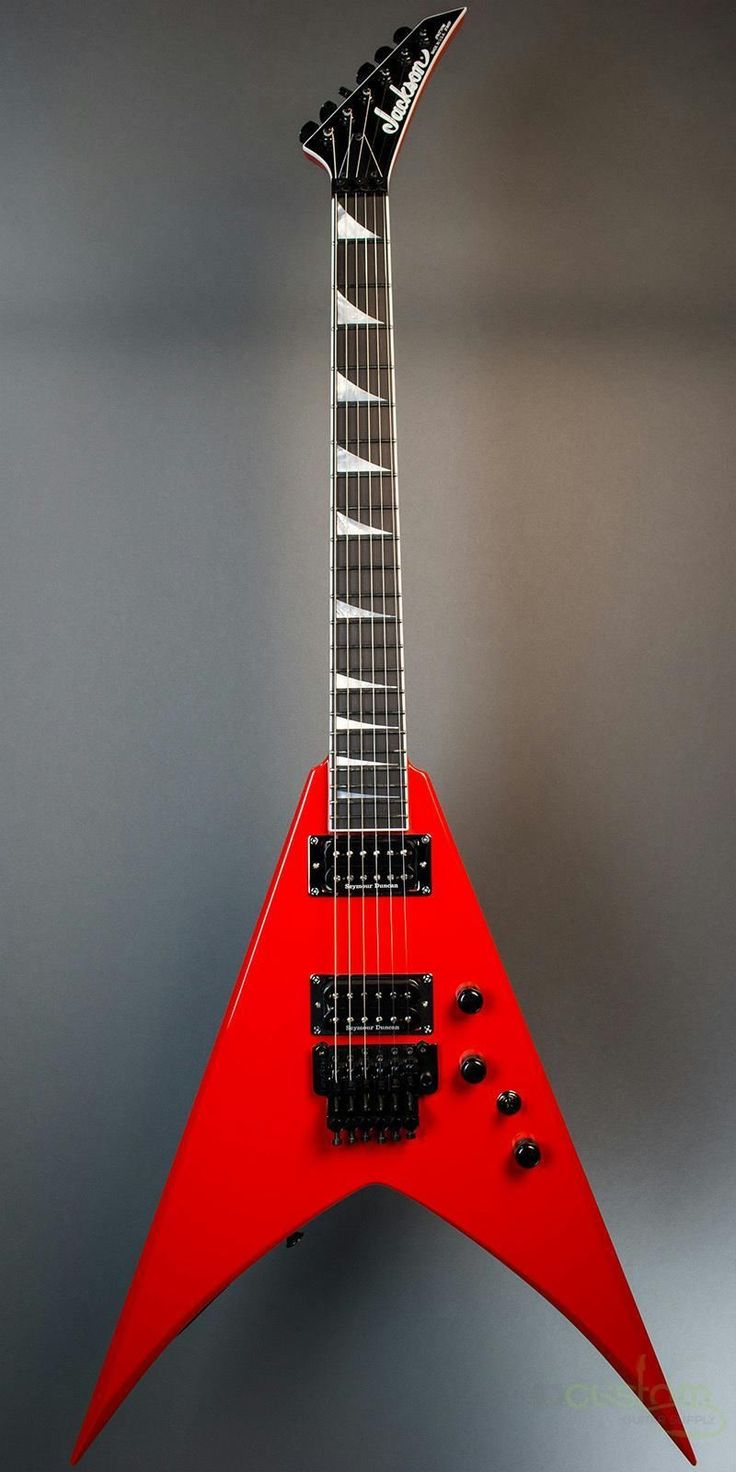 Jackson Guitars Custom Shop Double Rhoads In Ferrari Red Jacksonguitars Customshop Guitars Jackson Guitars Electric Guitar Guitar