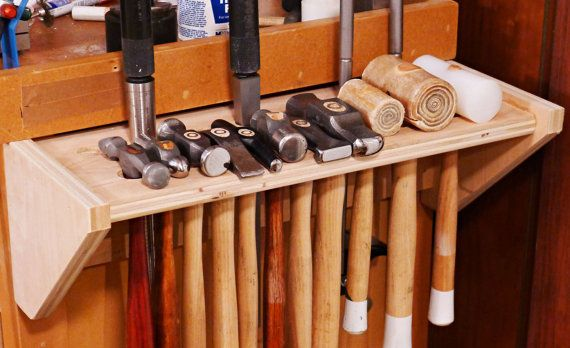 Hammer Rack Jewelry tools holder This wood rack measures about 17 wide x 6 deep x 6 tall Holds about 12 hammers and 5 ring mandrels and 3