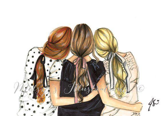Three Is Better Than One Horizontalfashion Illustration Etsy