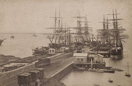 Railway Pier- Williamstown, Victoria. 1883.