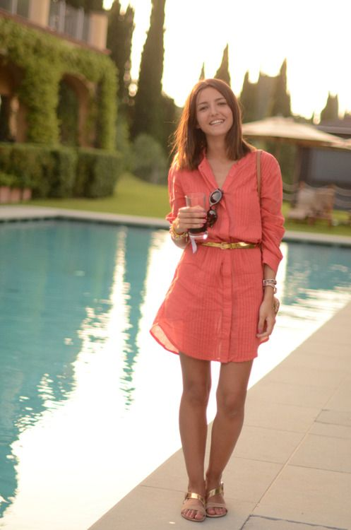so prettyWomen Fashion, Shirtdress, Fashion Style, Summer Style, Casual Shirts, Street Style, Gold Accent, Shirts Dresses, Spring Summe