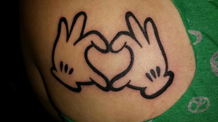 My Mickey Mouse Hands Tattoo | Tattoo ideas | Pinterest
