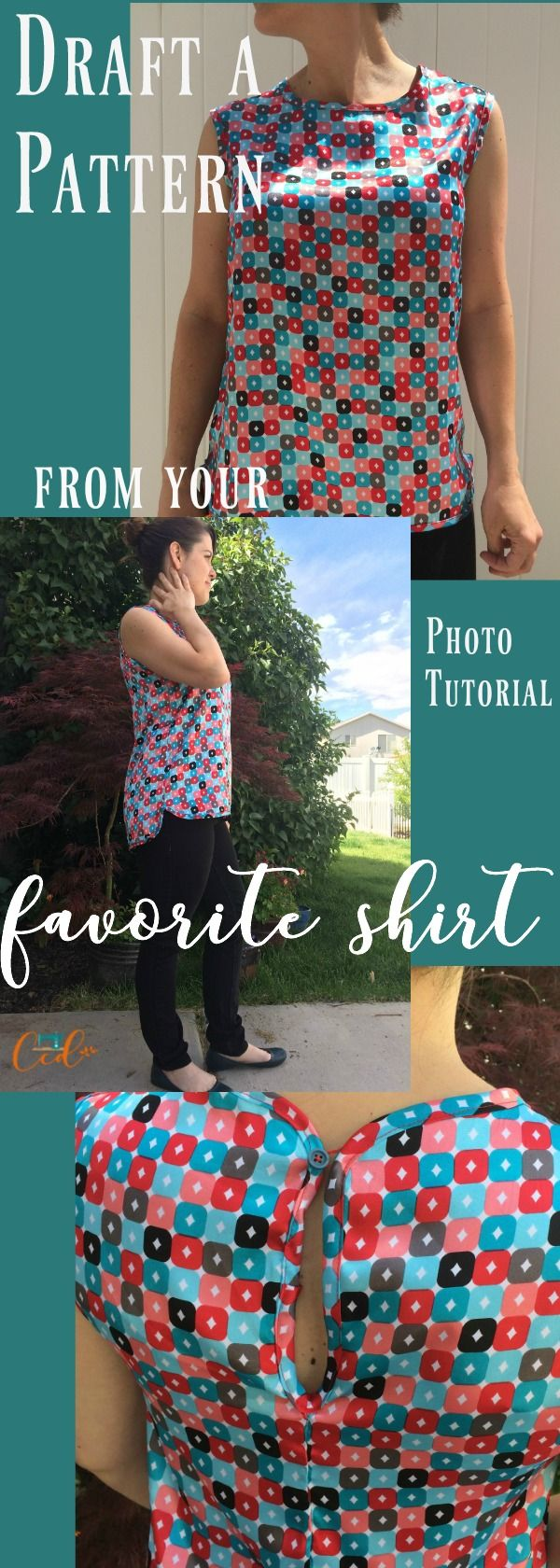Sew a shirt from an existing shirt. Draw your own pattern | beginner sewing tutorial | learn to sew | sewing clothes | shirt sewing | diy shirt | how to sew a shirt | pattern making