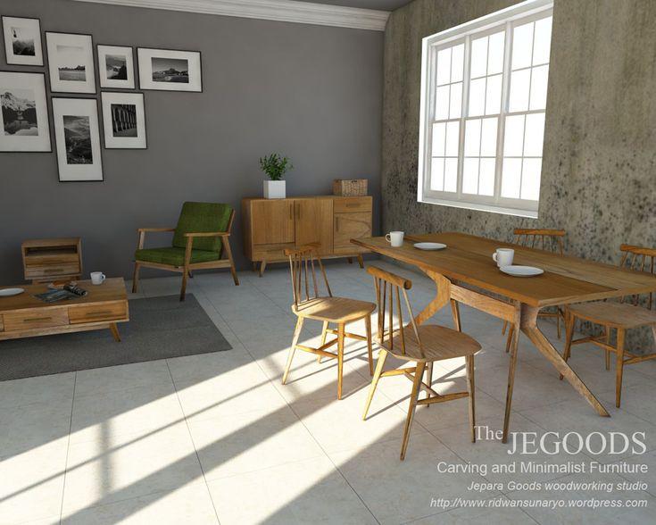 We design our furniture before we produce them as well. #minimalist #retro #vintagefurniture #midcenturyfurniture #3ddesign #3dfurniture by the Jepara Goods Woodworking Studio Indonesia Furniture Designer and Manufacturer.    jeparagoods.com