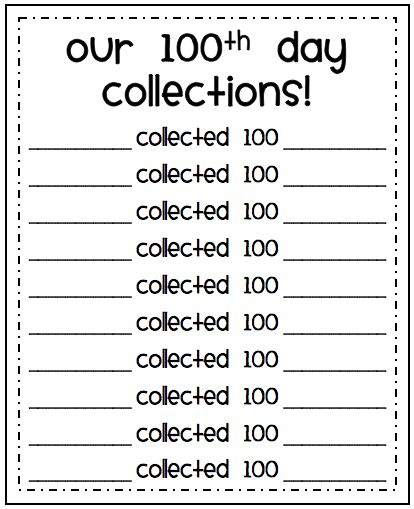 100th day collections
