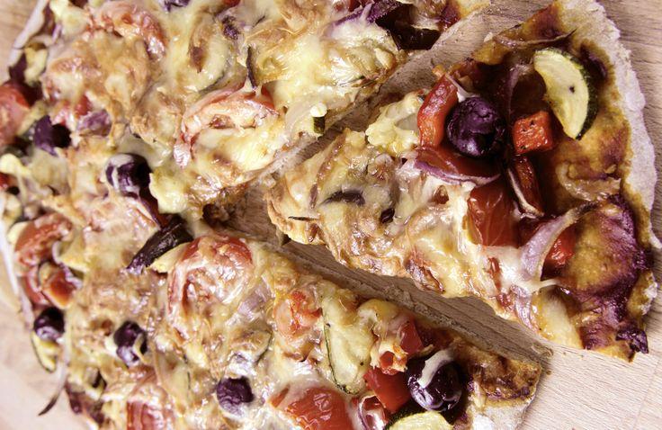 Vegetarpizza | www.greteroede.no | Oppskrifter | www.greteroede.no