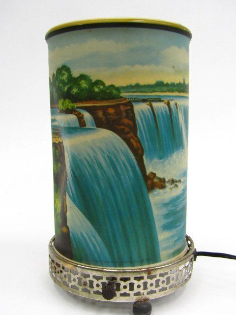 We had one of these that sat on top of our TV. There was a light in it and it made it look like the waterfall was moving....sort of. LOL!
