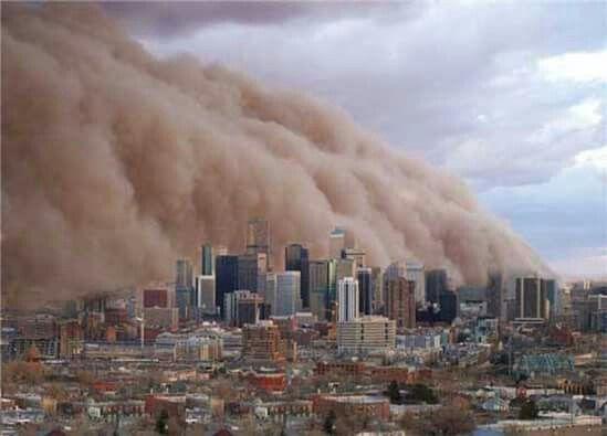 1983 Dust Storm ....Melbourne, Australia...