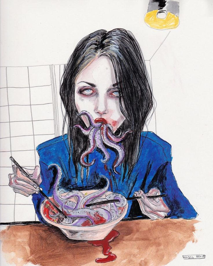 「 Cthulhu vibes study, Frances bean cobain #octopus #cena 」
