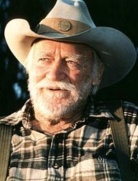 Richard Farnsworth in The Straight Story.  He was suffering with terminal cancer during the filming.  Sweet man.