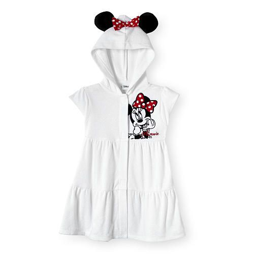 "Disney Baby White Minnie Mouse Hooded Cover Up with Touch Closure - Toddler - Koala Baby  - Babies""R""Us"