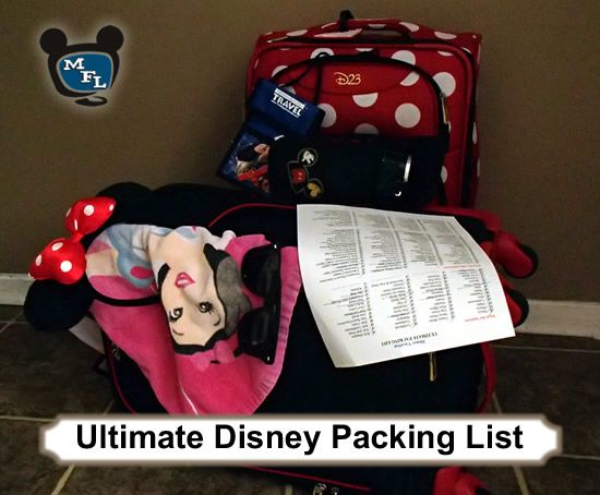 A great packing list for vacations to Walt Disney World