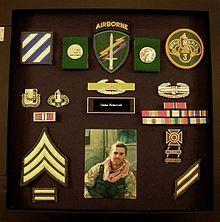 Alternate shadow box - no uniform, medals, patches, insignia, etc