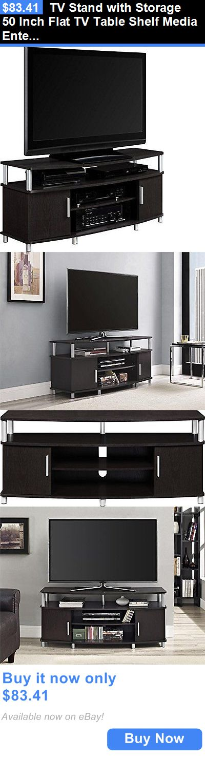 units tv stands tv stand with storage 50 inch flat tv table shelf media - 50in Tv