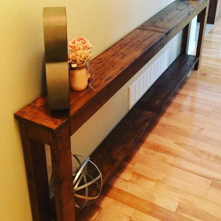 Another great custom sofa table from Stirling Rustic Furniture
