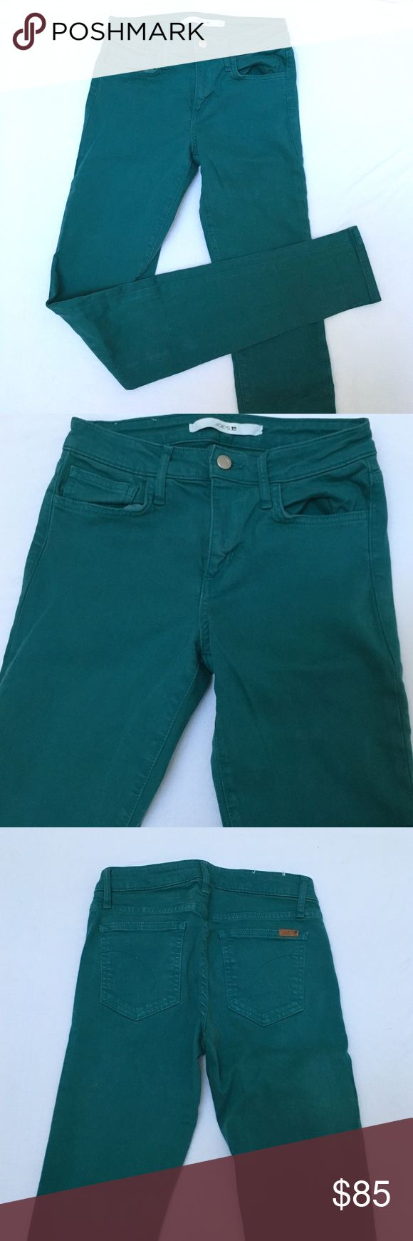 "Joes high rise jeans Like new!! Stretchy, comfortable turquoise jeans.  33"" inseam (long) but can be cuffed or hemmed for a shorter or cropped fit! Joe's Jeans Jeans"