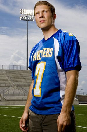 Confession time. I totally have a crush on this actor from Friday Night Lights.  The embarrassing part is that he plays a high school football player. But he's different than all the other ones. ha-ha!