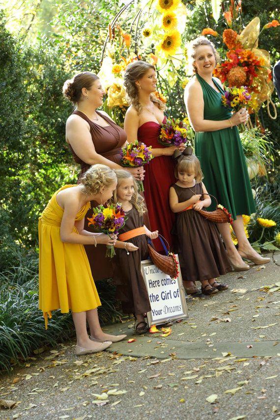 October bridesmaid color dresses
