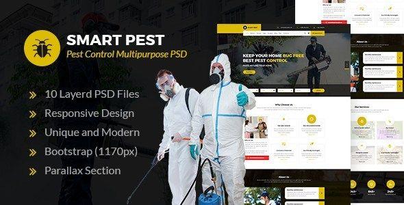 Smart Pest Pest Control Multipurpose Psd Template Pest Control Termite Control Pests