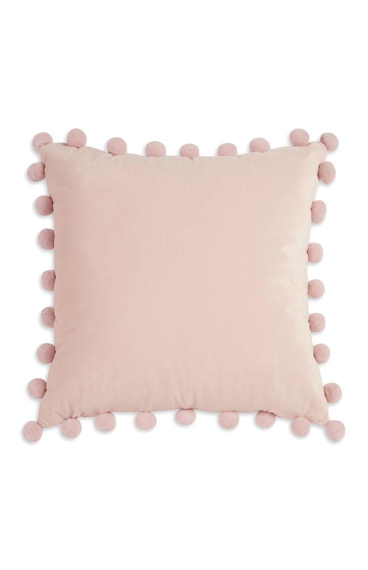 Gabriella Pink Pompom Cushion
