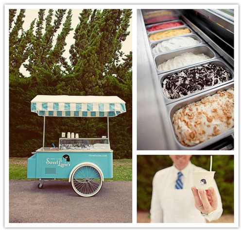 Gelato italian icecream served either from a traditional cart or at the buffet is an awesome sweet treat at the end of any wedding reception in Italy!
